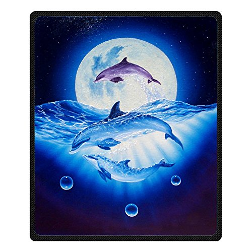 QH Queen Size Dolphin Jumping Printing Velvet Plush Throw Blanket Comfort Design Home Decoration Fleece Blanket Perfect for Couch Sofa or Travelling 58