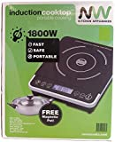 New Wave NW200 1800-Watt Portable Induction Cooktop with Free Magnetic Cooking Pot