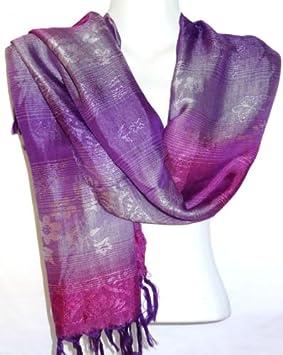 90a75041ea28 Echarpe Foulard Châle Etole Femme Style Pashmina violet violette mauve