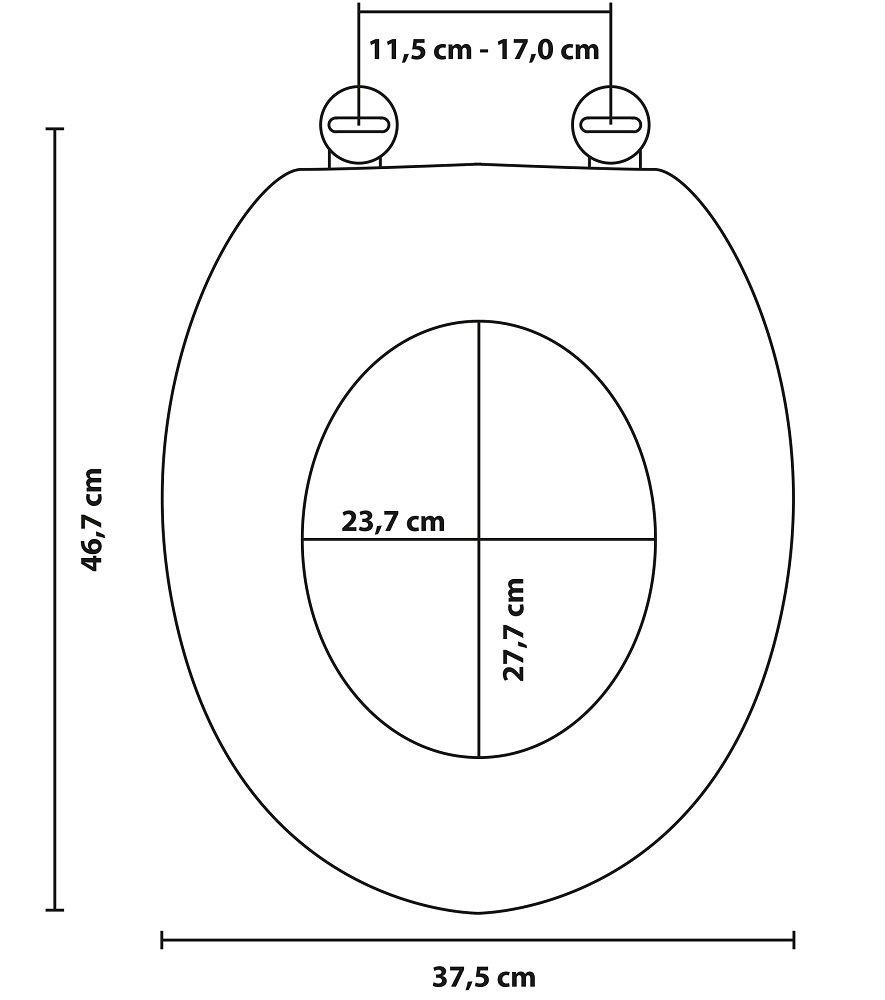 Charni/ères robustes Abattant WC Husky Fixation facile Finition de haute qualit/é