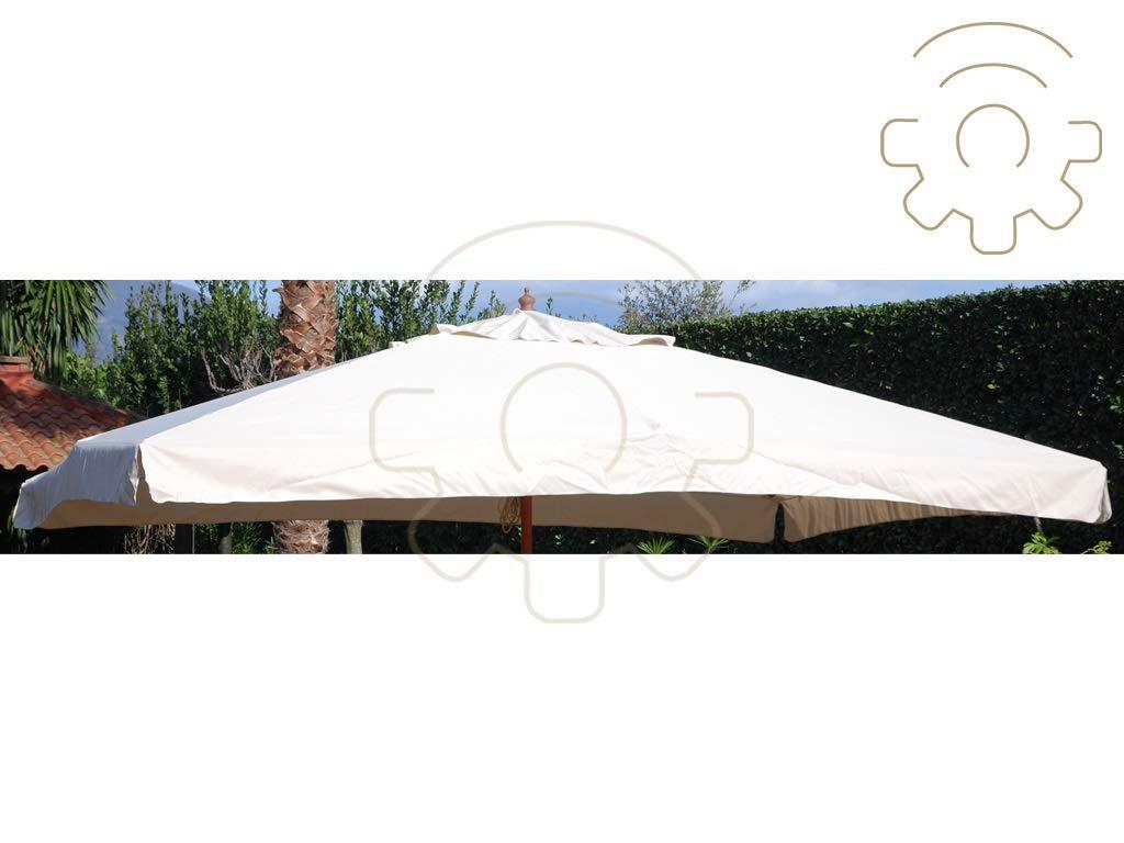sal mar Telo di Ricambio per ombrellone Oasis 3x2 Metri Colore Ecru