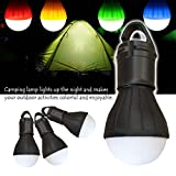 EnjoCho Camping Light, Outdoor Emergency Lamp LED Camping Hik Tent Fishing Lantern Hanging Light (Black)