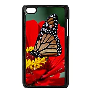 YCHZH Phone case Of Butterflies Cover Case For Ipod Touch 4