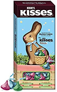HERSHEY'S Chocolate Easter Bunny, Filled with Kisses, 170 G