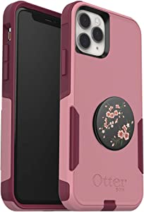 Bundle: OtterBox Commuter Series Case for iPhone 11 Pro - (Cupids Way) + PopSockets PopGrip - (Blossom Flair)