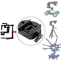 Quick Release Plate Tripod Mount Adapter for DJI Ronin-m Ronin MX 3-axis Handheld Gimbal Stabilizer Support JIB Crane,Tripod,UAV, Rails Slider, Rocker Arm, Photography Car etc.