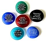Scripture Magnets, Your Favorite Inspirational Bible Verses Printed On Frosted Sea Glass Stones, Attached To Super-Strong Magnets. By Lifeforce Glass