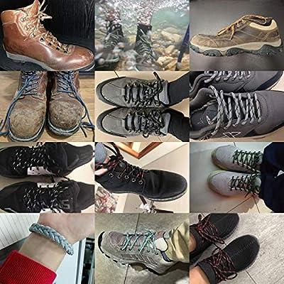 Pursuestar 1 Pair Men Women Heavy Duty Round Outdoors Hiking Mountaineering Walking Skate Work Boot Shoelaces Shoe Laces