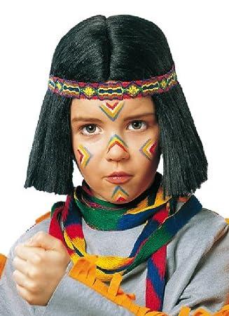 Karneval Kinder Perucke Indianer Zubehor Zum Krieger Kostum Fasching