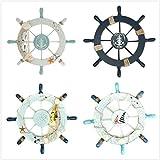 Rosenice Wooden Ship Wheel Nautical Boat Ship Wheel