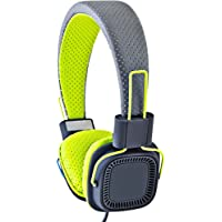 SHARPER IMAGE SHP51BKYL Universal Premium Foldable Headphones with Mic Compatible with All Devices (Yellow)