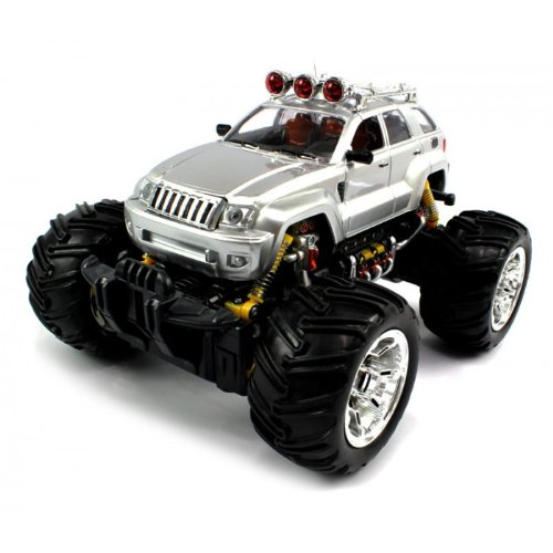 Big Size QUALITY Electric Full Function 1:16 Jeep Grand Cherokee Monster RTR RC Truck (Colors MAy Vary) Remote Control RC Trucks