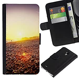 Ihec-Tech / Flip PU Cuero Cover Case para Samsung Galaxy S4 Mini i9190 MINI VERSION! - Happy Hipster Beach Sunset