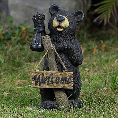 Solar Garden Lights Bear in US - 5