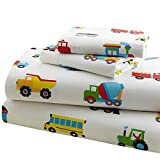 Olive Kids Trains, Planes, Trucks Twin Sheet Set
