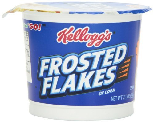 Kellogg's Frosted Flakes Cereal in a Cup, 2.1-ounce (Pack of 4)