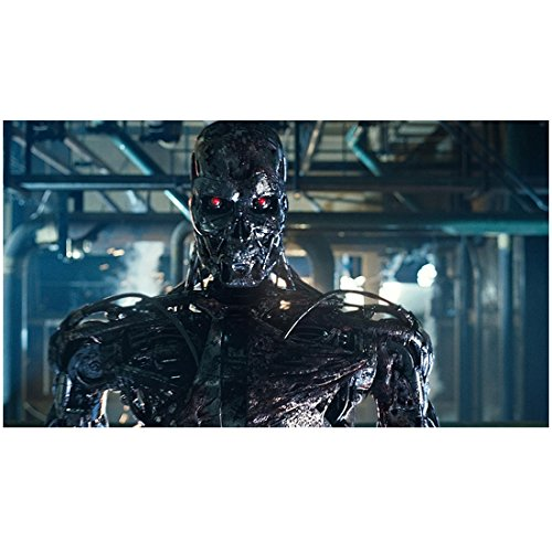 (Terminator Salvation (2009) 8 inch by 10 inch PHOTOGRAPH Terminator from Chest Up Red Eyes kn)