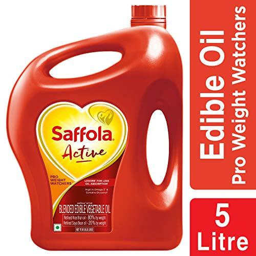 Saffola Active, Pro Weight Watchers Edible Oil, Jar, 5 L 2