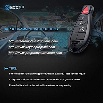 ECCPP Replacement fit for Uncut 433MHz Keyless Entry Remote Key Fob Chrysler Dodge Jeep Volkswagen Series M3N5WY783X IYZ-C01C (Pack of 1): Automotive