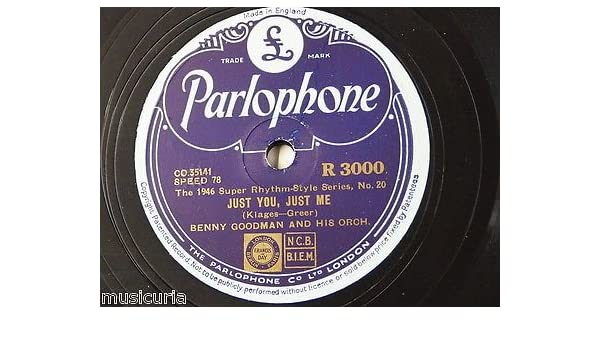 EX 78rpm BENNY GOODMAN just you just me / my guy`s come back R 3000