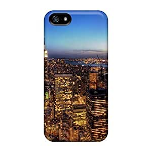 JoinUs Case For HTC One M7 Cover - Retailer Packaging New York On Fire At Dusk Protective Case