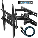 "Cheetah Mounts APDAM3B Dual Articulating Arm TV Wall Mount Bracket for 20-65"" TVs up to VESA 400 and 115lbs, Mounts to Two 16"