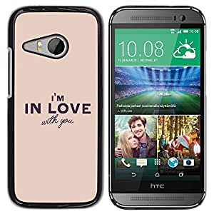 Paccase / SLIM PC / Aliminium Casa Carcasa Funda Case Cover para - Girlfriend Boyfriend Valentines Heart - HTC ONE MINI 2 / M8 MINI