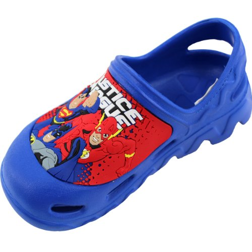 Justice League Boys Blue Clogs (9 M US Toddler)
