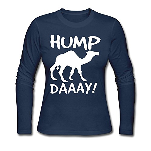 XMXMLing Women's Hump Day ComfortSoft Long-Sleeve T-Shirt Cotton Tee