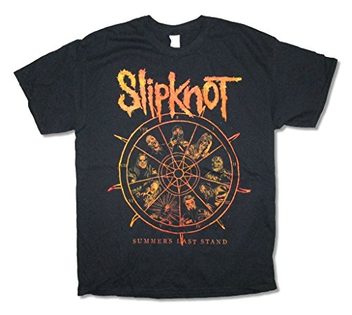 Slipknot Clock Summer's Last Stand 2015 Tour Black T Shirt (M)]()