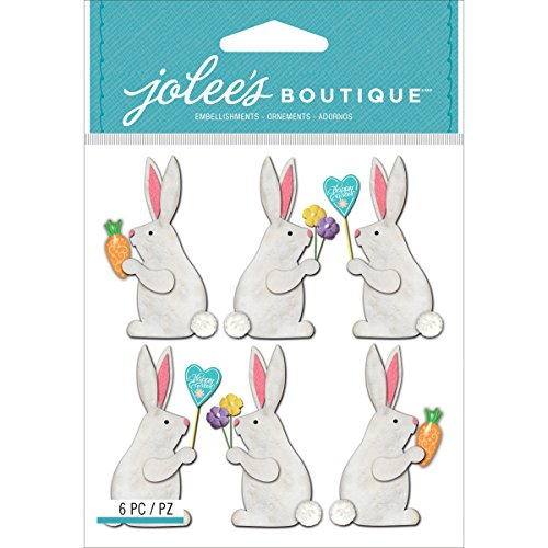 Jolees Boutique Dimensional Stickers, Easter - Stickers Rabbit Bunny