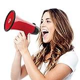 10. Hammer + Axe Handheld Megaphone, Bullhorn Loudspeaker with Built-In Bottle Opener, Battery-Powered Horn for Coaches and Fans, Best Speaker for Football and Soccer Games, Amplify Voice Volume and Siren