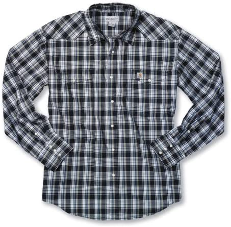 Carhartt de manga larga camisa de cuadros para doblar las de ...