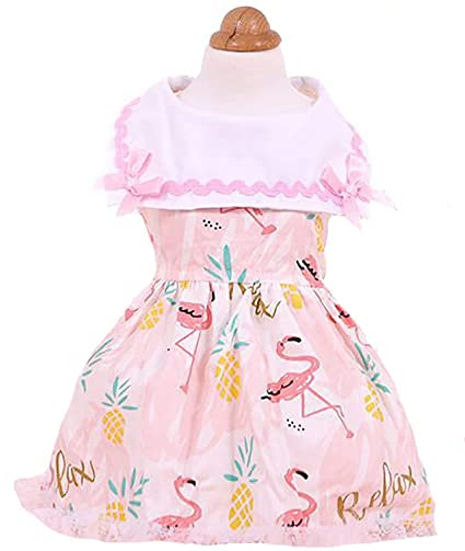 59968176f822 MaruPet Sping Summer Sweet Puppy Dog Maid Princess Lapel Skirt Pet Dog  Hollow Tutu Dress with Bell for Teddy