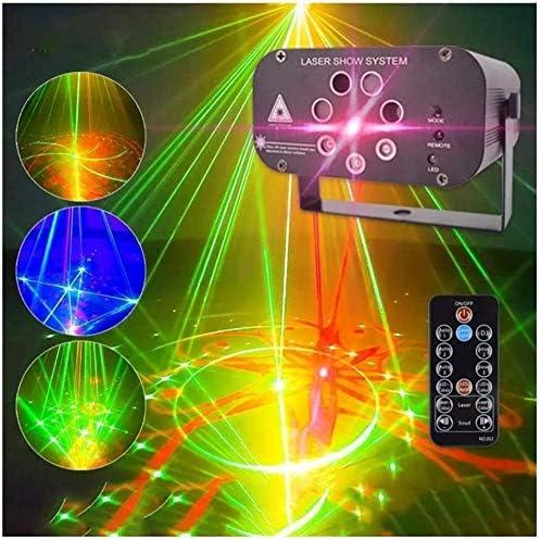 ZCX Mini-LED-Weihnachtsbeleuchtung, 128 Muster-Ton aktivierte DJ Disco Lights Steuerung Ton Auto Master-Slave-Modus Bühnenbeleuchtung for Bar-Musik-Party-Konzert Pub-Club Bühnenlichter