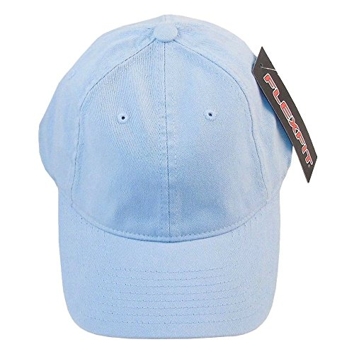 - Yupoong Garment-Washed 6-Panel Twill Cap, LIGHT BLUE, Large / X-Large