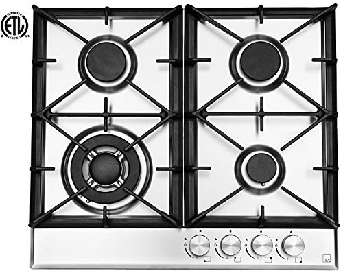 Ramblewood High Efficiency 4 Burner Natural Gas Cooktop, Sealed Burner ()