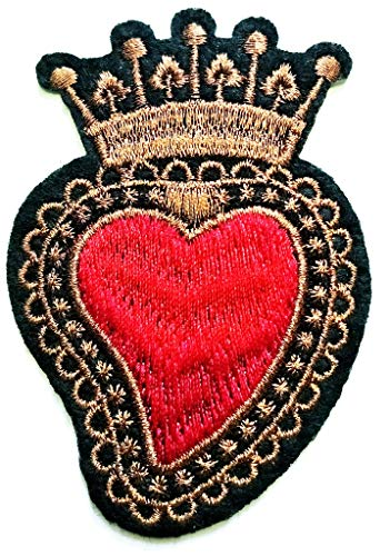 PP Patch Red Heart Crown Imperial King Queen