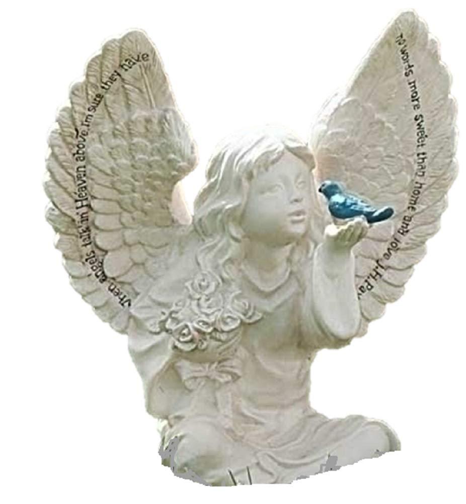 Amazon.com : Roman Garden Angel Cherub Bird Statue When Angels Talk In  Heaven : Outdoor Statues : Garden & Outdoor