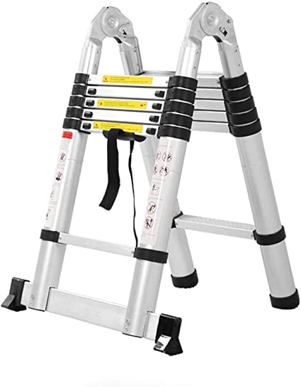 RMJAI Taburetes Escalera Escalera de extensión Plegable multifunción de 1,6 Metros, Convertible en Escalera Vertical/Escalera en Espiga: Amazon.es: Electrónica