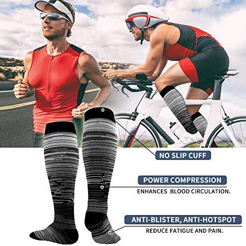Copper Compression Socks Women & Men(6 Pairs) - Best for Running,Sports,Hiking,Flight Travel,Pregnancy