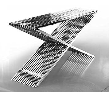 ACERO inox. Aparador Bauhaus Largo 152cm x profundidad 40 cm ...