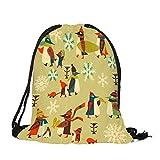 HYIRI Merry Christmas Candy Bag Satchel Pocket Drawstring Storage Bag