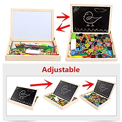 Elloapic Adjustable Writing Black White Drawing Board Sketchpad with 1 to 100 Numbers Sticks Maths Counting Early Learning Education Toy: Toys & Games