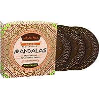 MANDALAS CHOCOLATE Orange Unroasted Chocolate Disc Triple Pack, 72 g