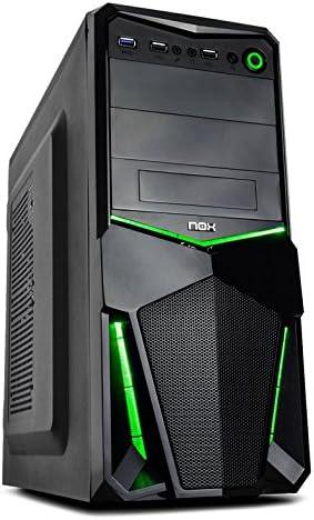Nox Pax - Caja de computadora, Color Negro y Verde: Nox: Amazon.es: Informática