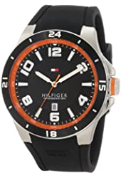 Tommy Hilfiger Men's 1790861 Sport Bezel and Silicon Strap Watch
