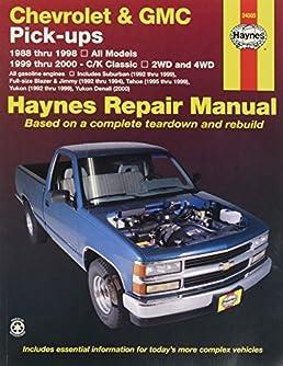 haynes repair manual for chevy pick up number 24065 automotive rh amazon com Haynes Manual for Quads Saab 99 Haynes Manuals