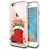 iPhone 6 Plus Christmas Case, Eouine Printed Flexible Soft TPU Silicone Case for iPhone 6S Plus Scratch-Resistant Protective Case,Christmas Shoes