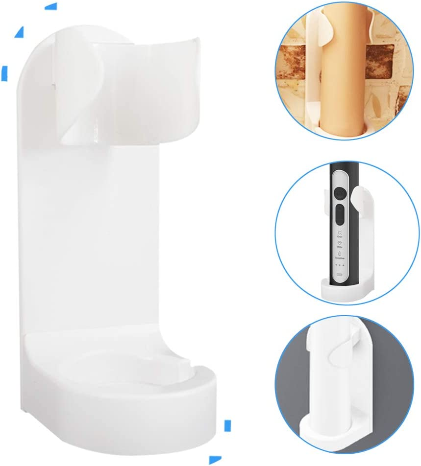 Electric Toothbrush and Heads Holder for Bathroom Holder Safe and ABS Plastic Wall Mount Storage Set Organizer Toothbrush/Toothpaste Stand White - No Drill or Nail Needed